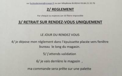 ATTENTION : CHANGEMENT DES CONDITIONS DE VENTE…RETOUR DU DRIVE