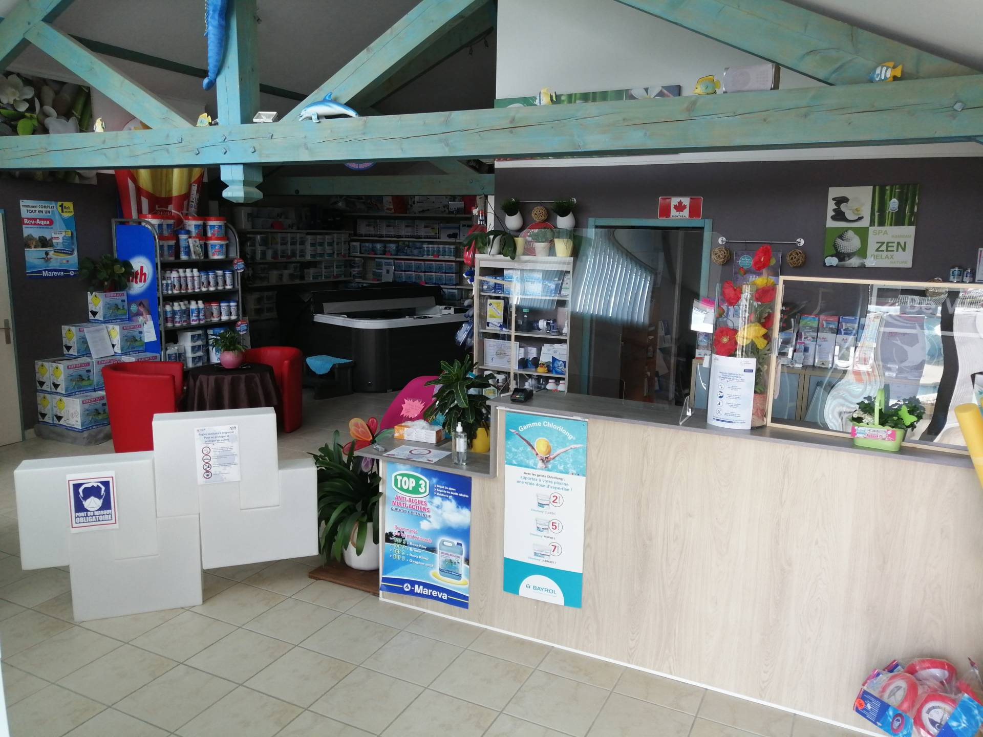 Magasin sous protection…….